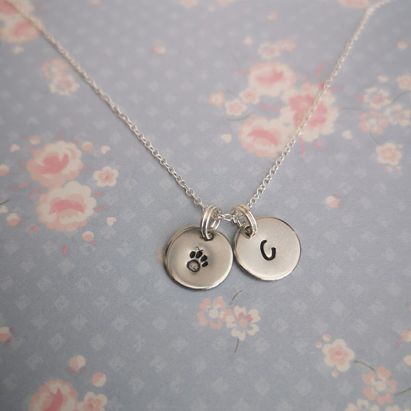 Hand stamped sterling silver necklaces