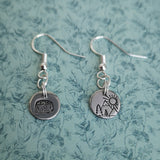 Hand stamped sterling silver earrings