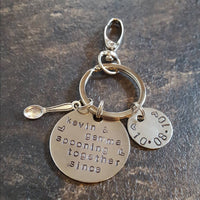 Spooning together since keyring keychain love anniversary wedding gift
