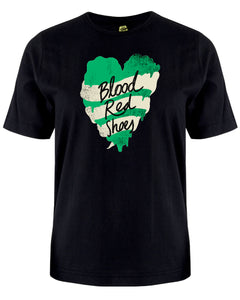 Blood Red Shoes Green Heart Shirt