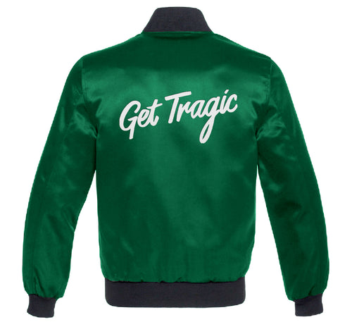 PRICE DROP! Get Tragic Green Satin Jacket