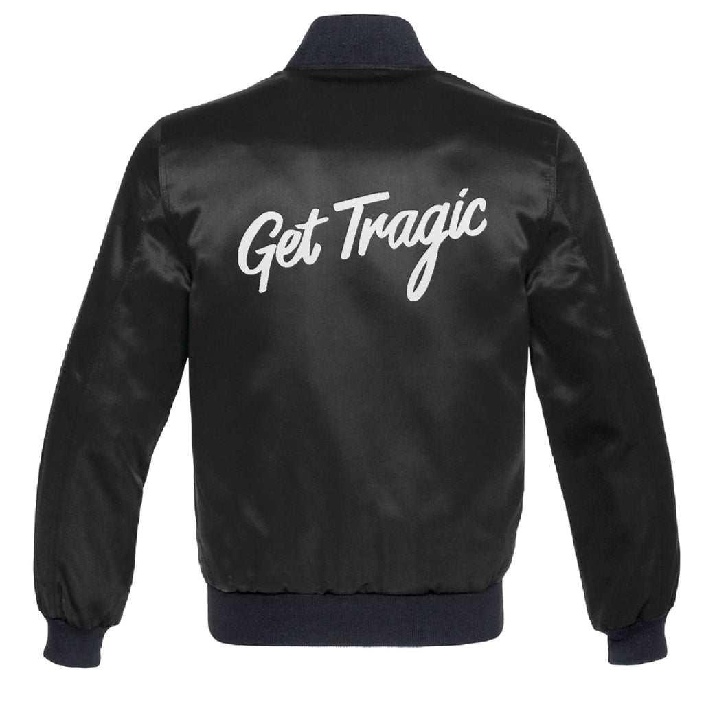 Get Tragic Custom Black Satin Jacket