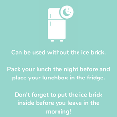 Pack your lunch and keep it in the fridge
