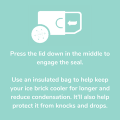 Keep your Boxi lunchbox inside an insulated bag to help keep the ice brick cooler for longer