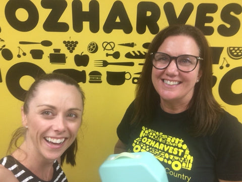 Boxi donating to OzHarvest