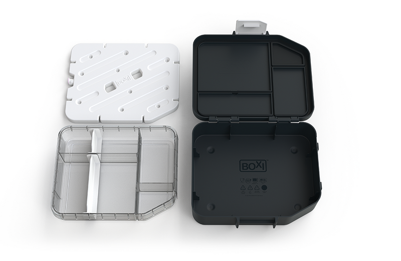 Boxi Cool™ Lunchbox with ice brick - 'Almost Black'