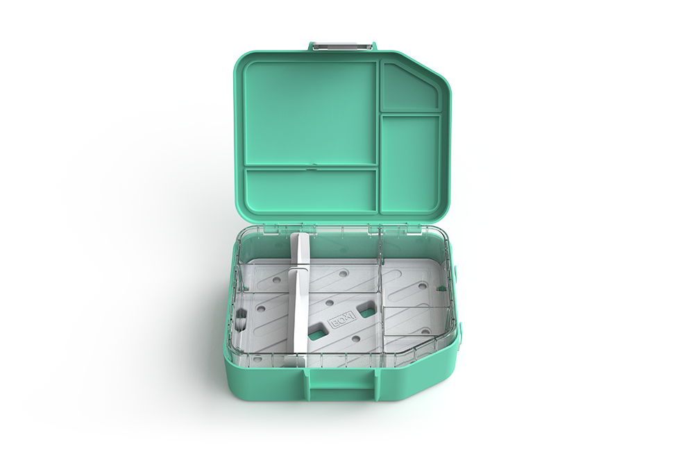 Boxi Cool™ Lunchbox with ice brick - 'Ice Blue'