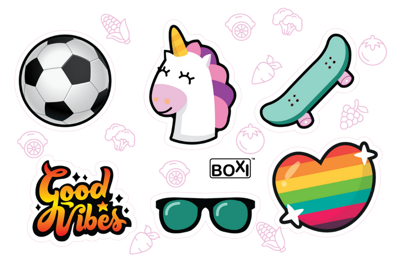 Lunchbox UV waterproof sticker sheet - 'Cool'