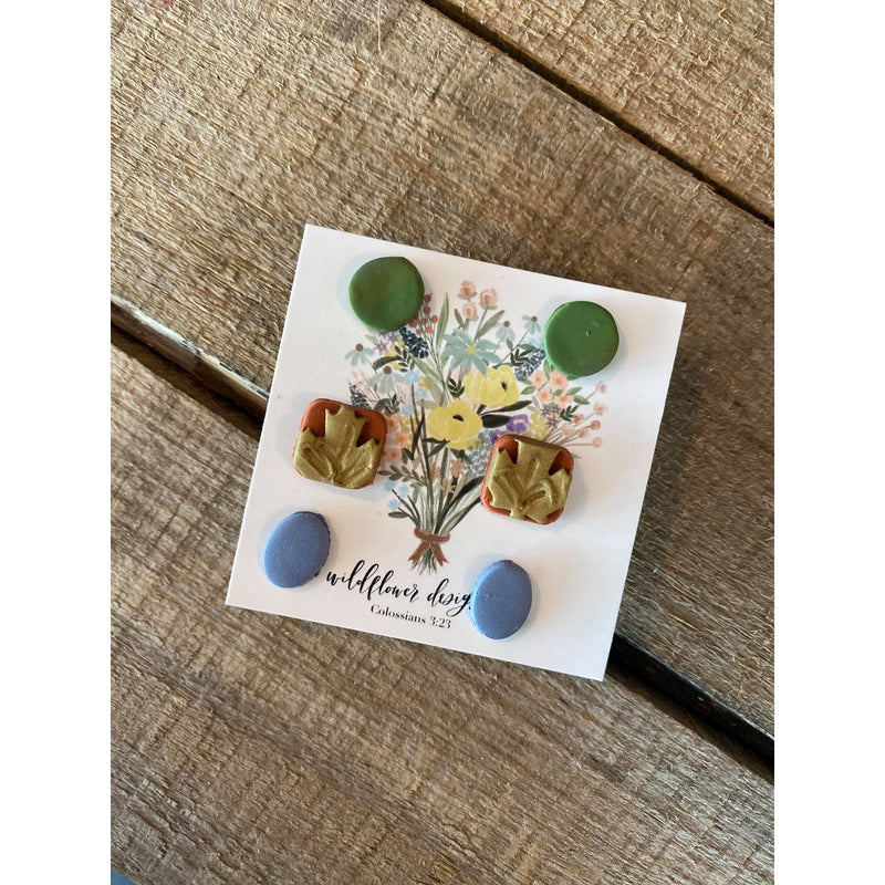 Wildflower Leaf Studs