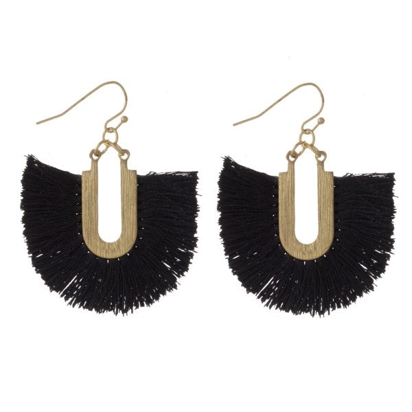 Tell Your Tale U-Tassel Earrings