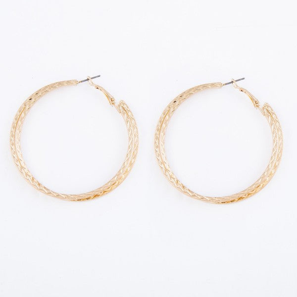 Make a Wish Double Hoop Earrings