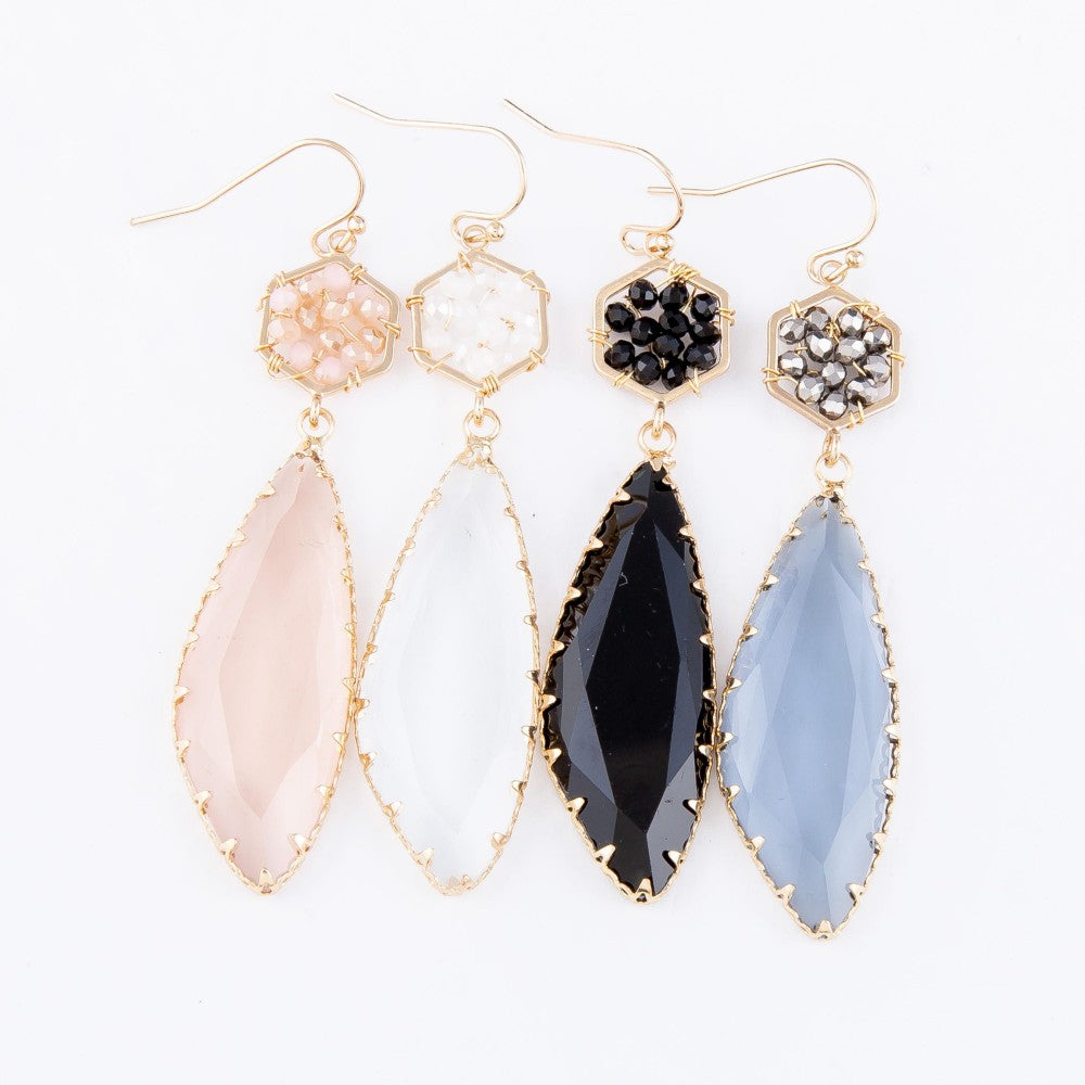 Avant Crystal Drop Earrings