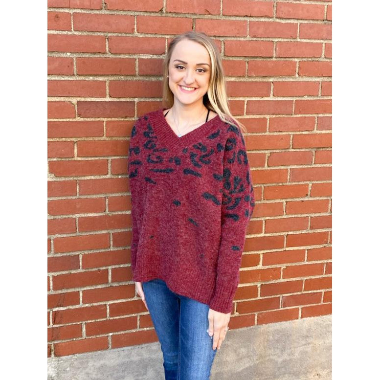 Noelle Animal Pattern Sweater