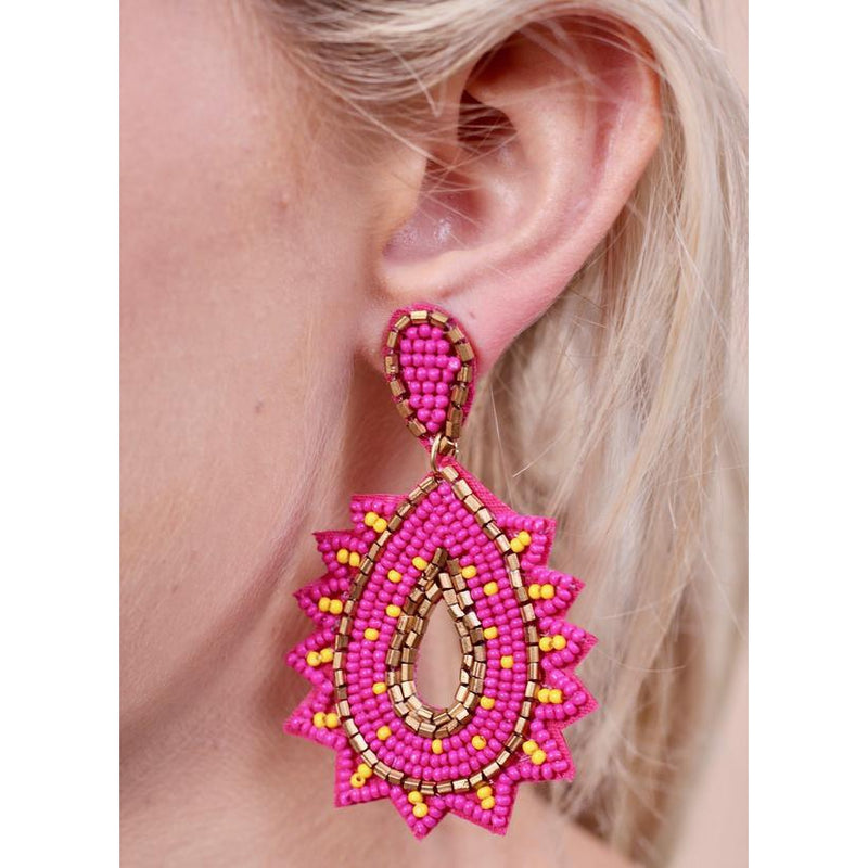 Primus Seed Bead Stardust Post Earring