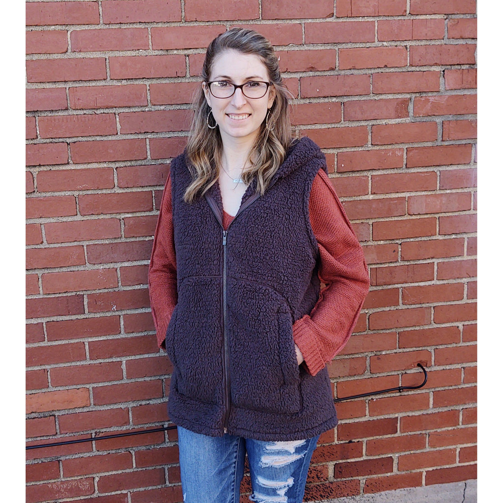 Shelly Sherpa Hooded Vest