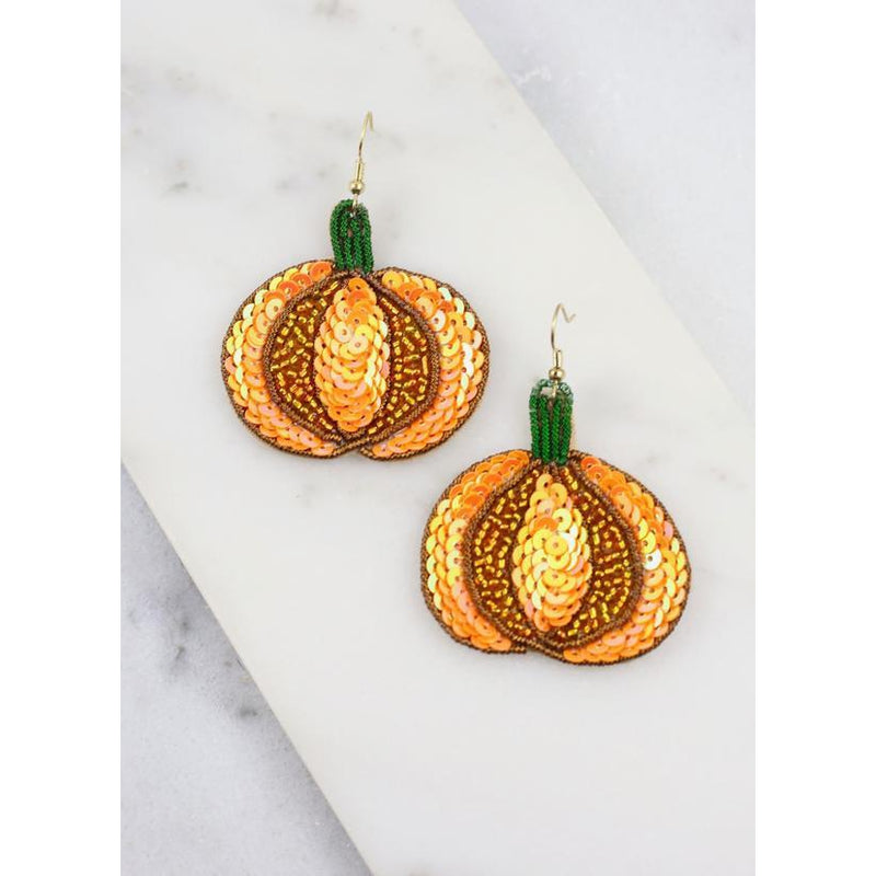 Caroline Halloween Beaded Earrings