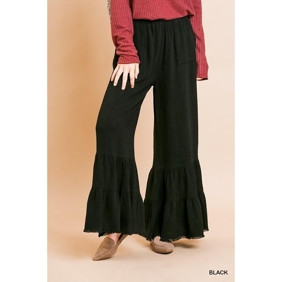 Georgia Wide Ruffle Leg Pants