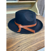 Nell Fedora Hat With Leather Belt