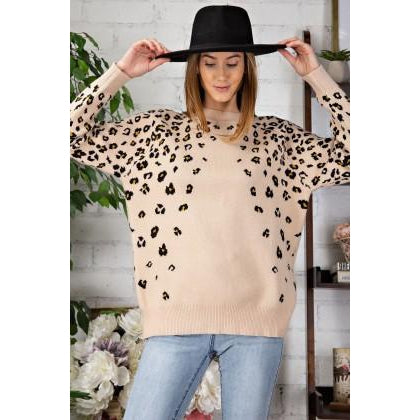 Madelyn Leopard Patterned Knitted Sweater