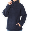 Neveah Soft Sherpa Pullover With Side Pockets