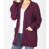 Puff Sleeve Popcorn Cardigan With Pockets