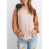Raelynn Color Block Relaxed Fit Balloon Long Sleeve