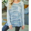 Skylar Camo Long Sleeve Knit Top
