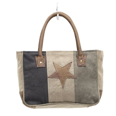 Star on Canvas Myra Small Bag
