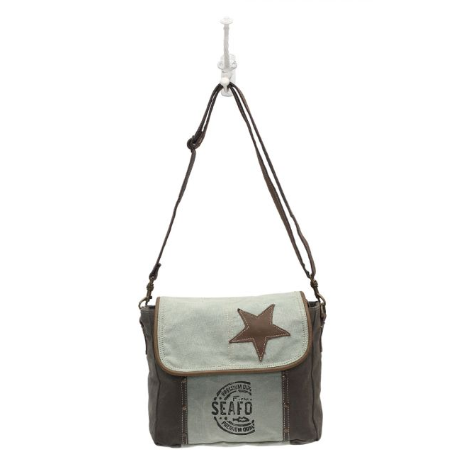 Star on Canvas Myra Shoulder Bag