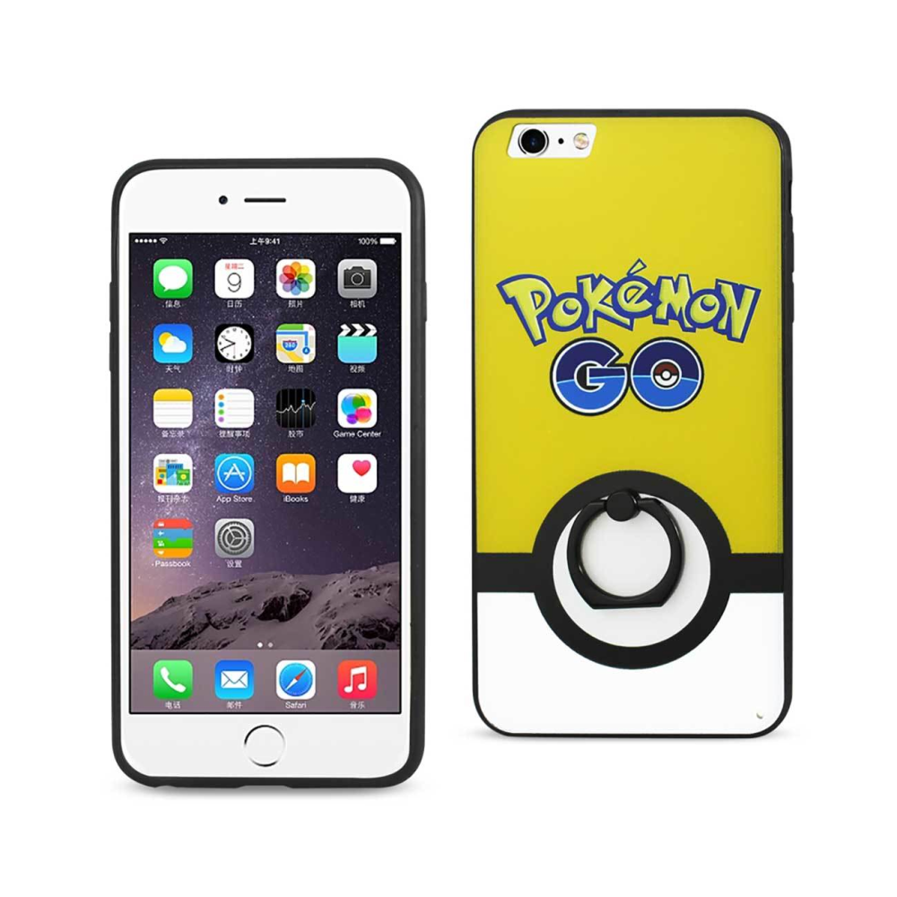 IPHONE 6 PLUS/ 6S PLUS INSTINCT CASE WITH ROTATING RING STAND HOLDER IN YELLOW