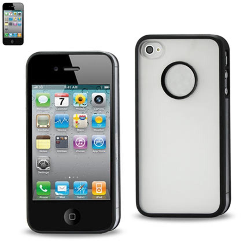 2-Color Protector Cover PC+TPU Iphone 4 Black