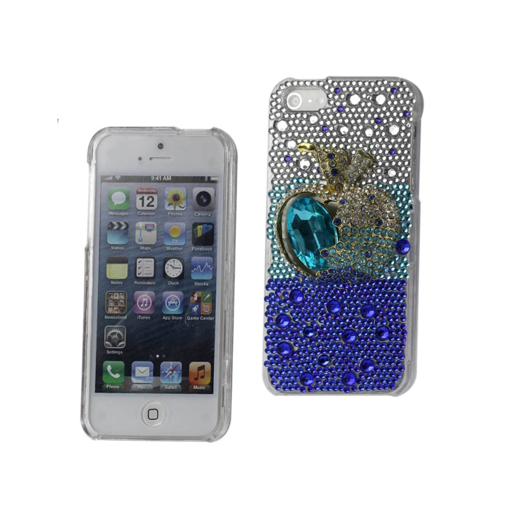 3D DIAMOND Protector Cover IPHONE5 APPLE BLUE