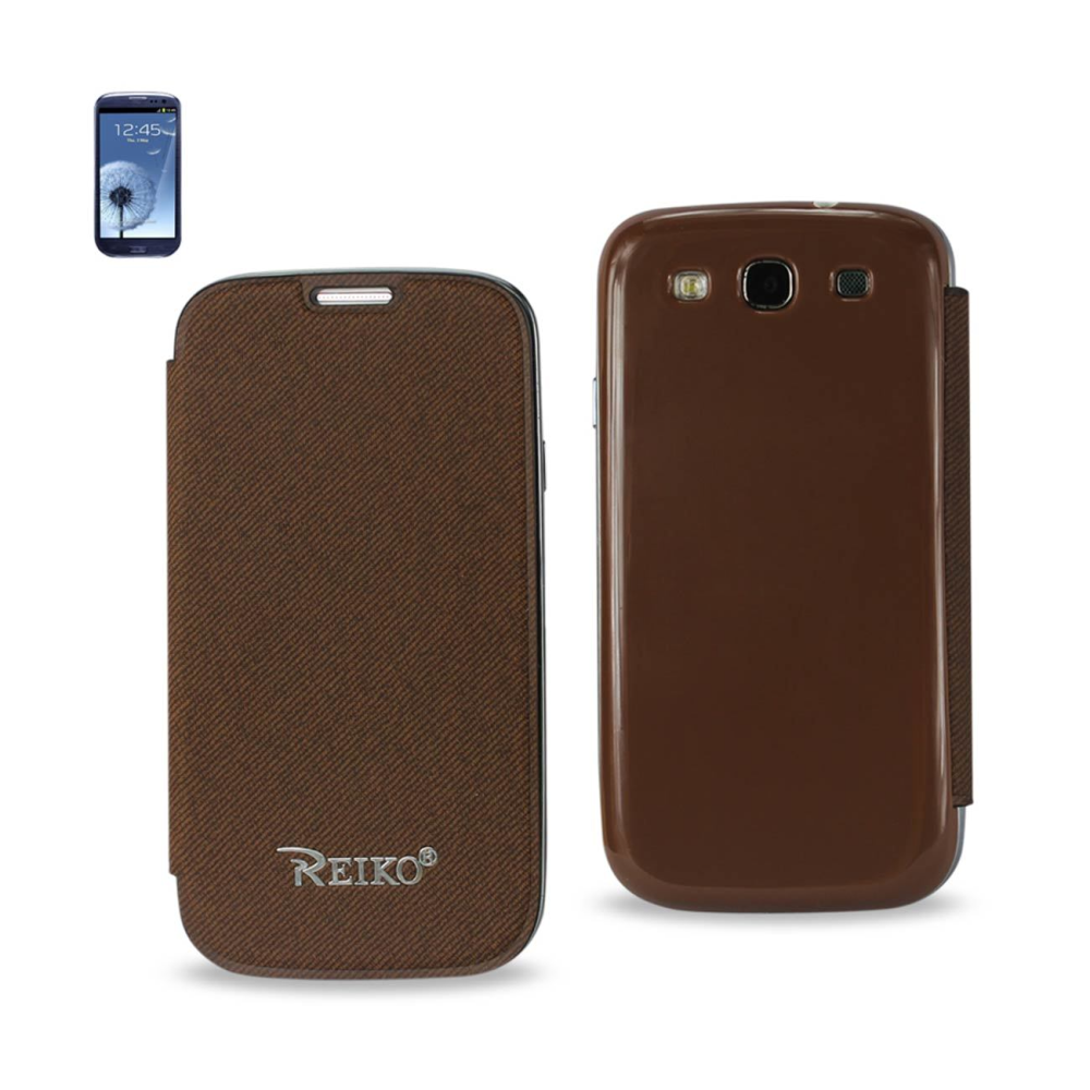FITTING CASE WITH BATTERY COVER SAMSUNG GALAXY S3/ I9300 BROWN