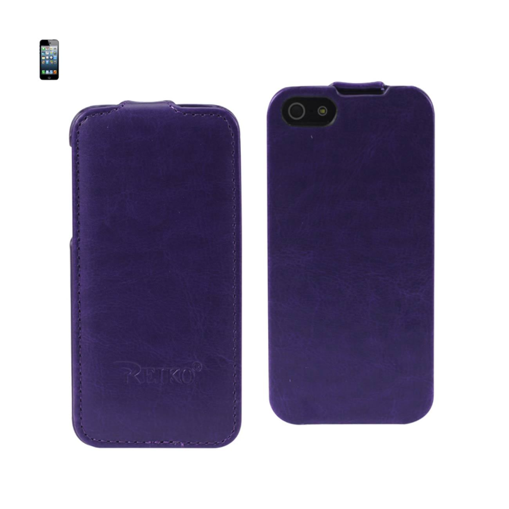 FITTING CASE APPLE IPHONE 5 HORSE SKIN PATTERN PURPLE