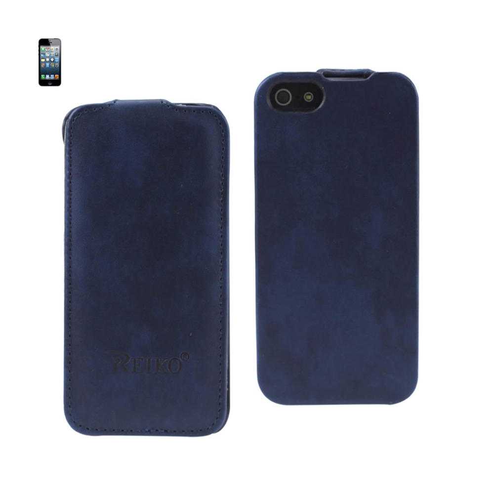 FITTING CASE APPLE IPHONE 5 HORSE SKIN PATTERN NAVY