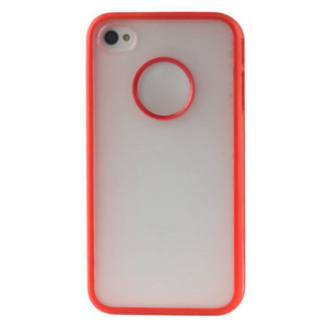 2-Color Protector Cover PC+TPU Iphone 4 Red