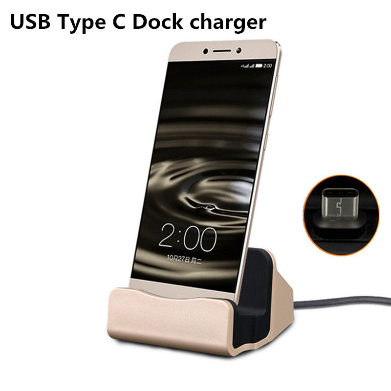 Dock Station Cellphone Desktop Docking Charger For iPhone X 8 7 Plus Huawei Mate 10 Samsung Note 8 S9 A8+ Plus 2018 Oneplus 5 5T