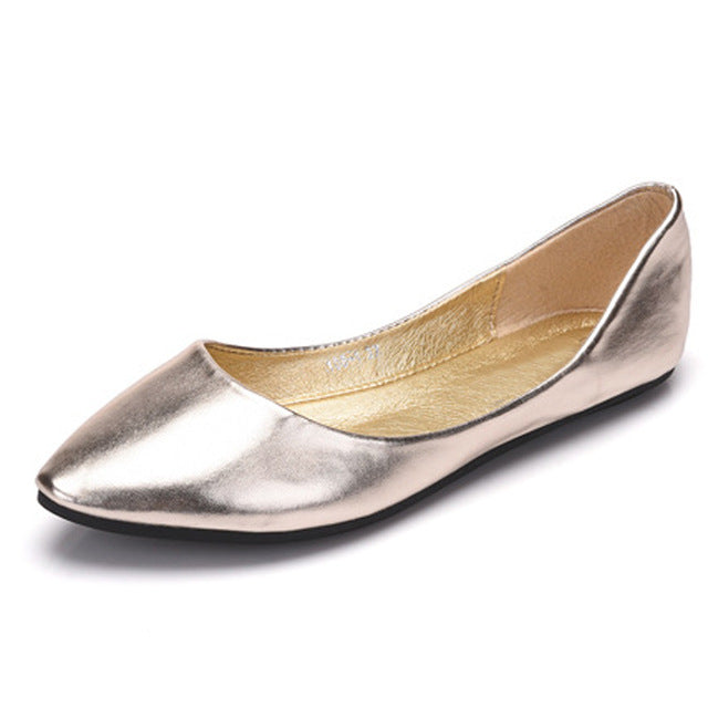 HEE GRAND Gold Sliver Platform Loafers Slip On Ballet Flats Comfortable Creepers Casual Women Flat Shoes Plus Size 35-43 XWD6441