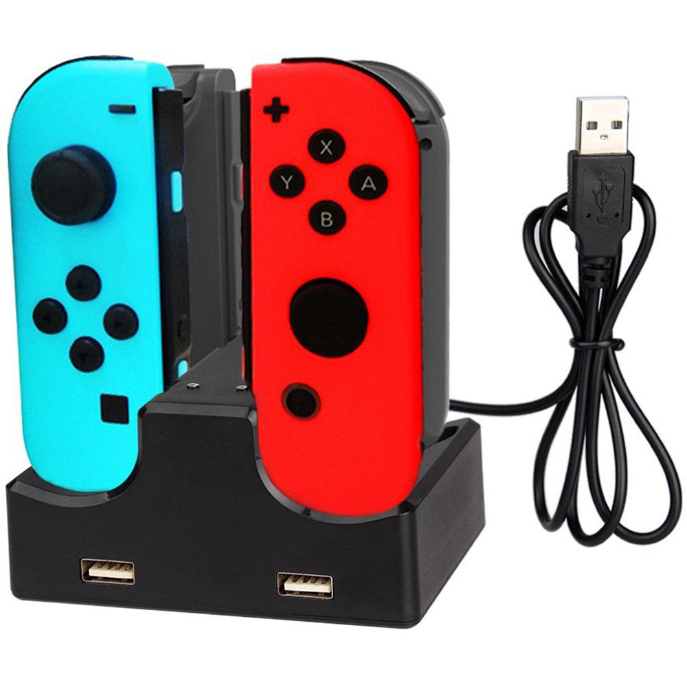 4 in 1 Charging Dock with 2-Port USB Hub for Nintendo Switch Joy-Con