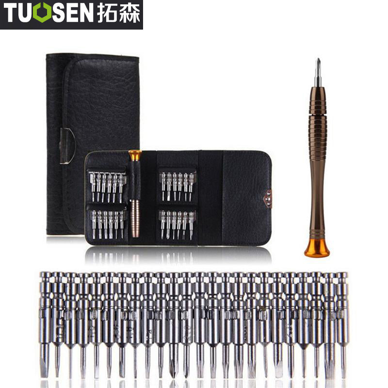 TUOSEN 25 in 1 Torx Precision Screwdriver Bits Repair Tool Set For iPhone Cellphone Tablet PC Torx Screwdriver Repair Tool Set