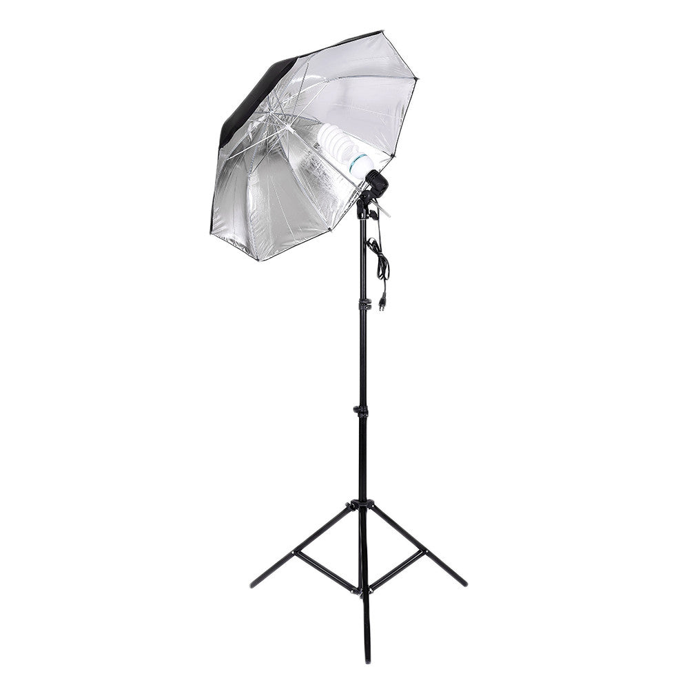 Photo Studio Photography Continuous Lighting Kit Backdrop Stand Muslim Cloth Set