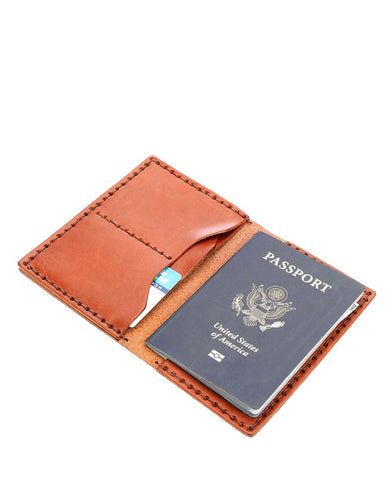 Billykirk No. 153 Passport Wallet (Tan)
