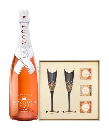 Moët & Chandon Nectar Impérial Rosé by Virgil Abloh with Sugarfina Pop the Champagne Gift Set