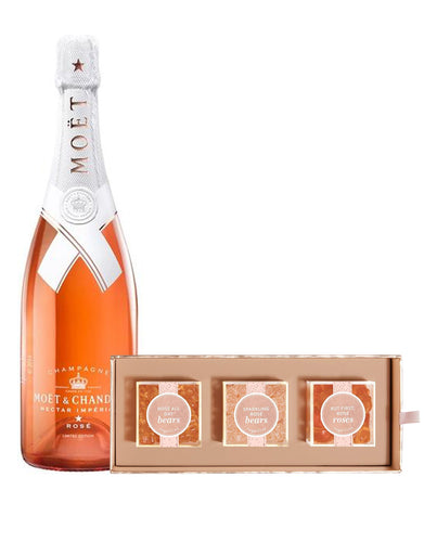 Moët & Chandon Nectar Impérial Rosé by Virgil Abloh with Sugarfina Rosé All Day 3pc Candy Bento Box
