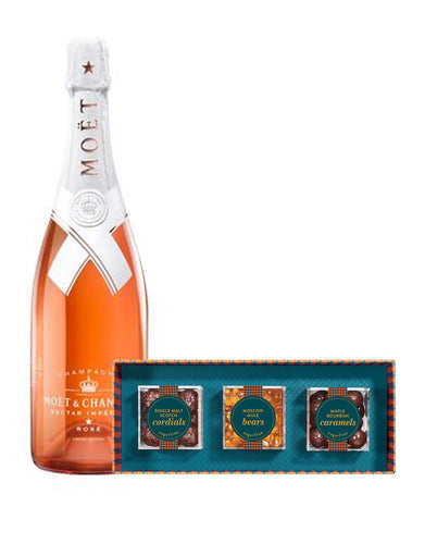 Moët & Chandon Nectar Impérial Rosé by Virgil Abloh with Sugarfina Vice Collection 3pc Candy Bento Box