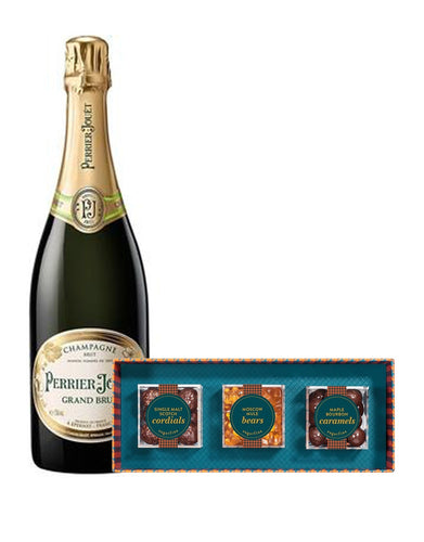 Perrier-Jouët Grand Brut with Sugarfina Vice Collection 3pc Candy Bento Box