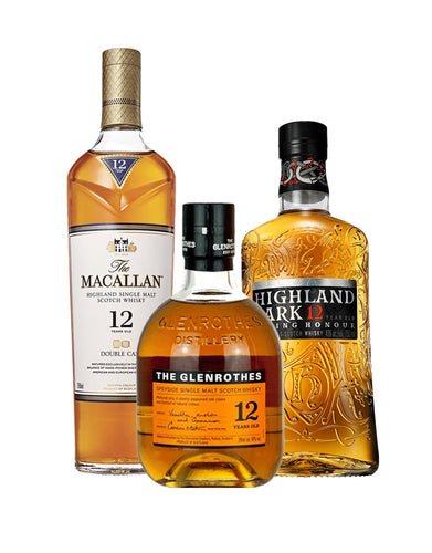 12 Year Old Single Malt Scotch Club (3 Bottle Subscription)