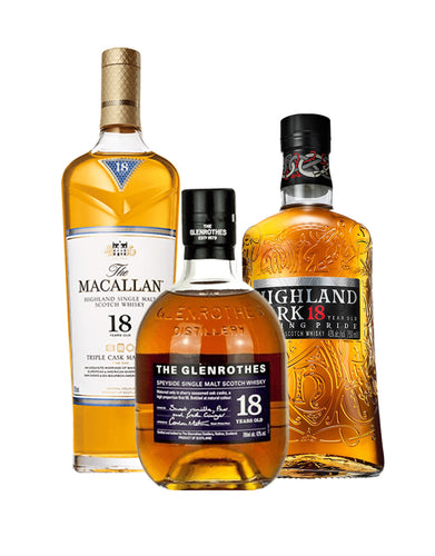 18 Year Old Single Malt Scotch Club (3 Bottle Subscription)