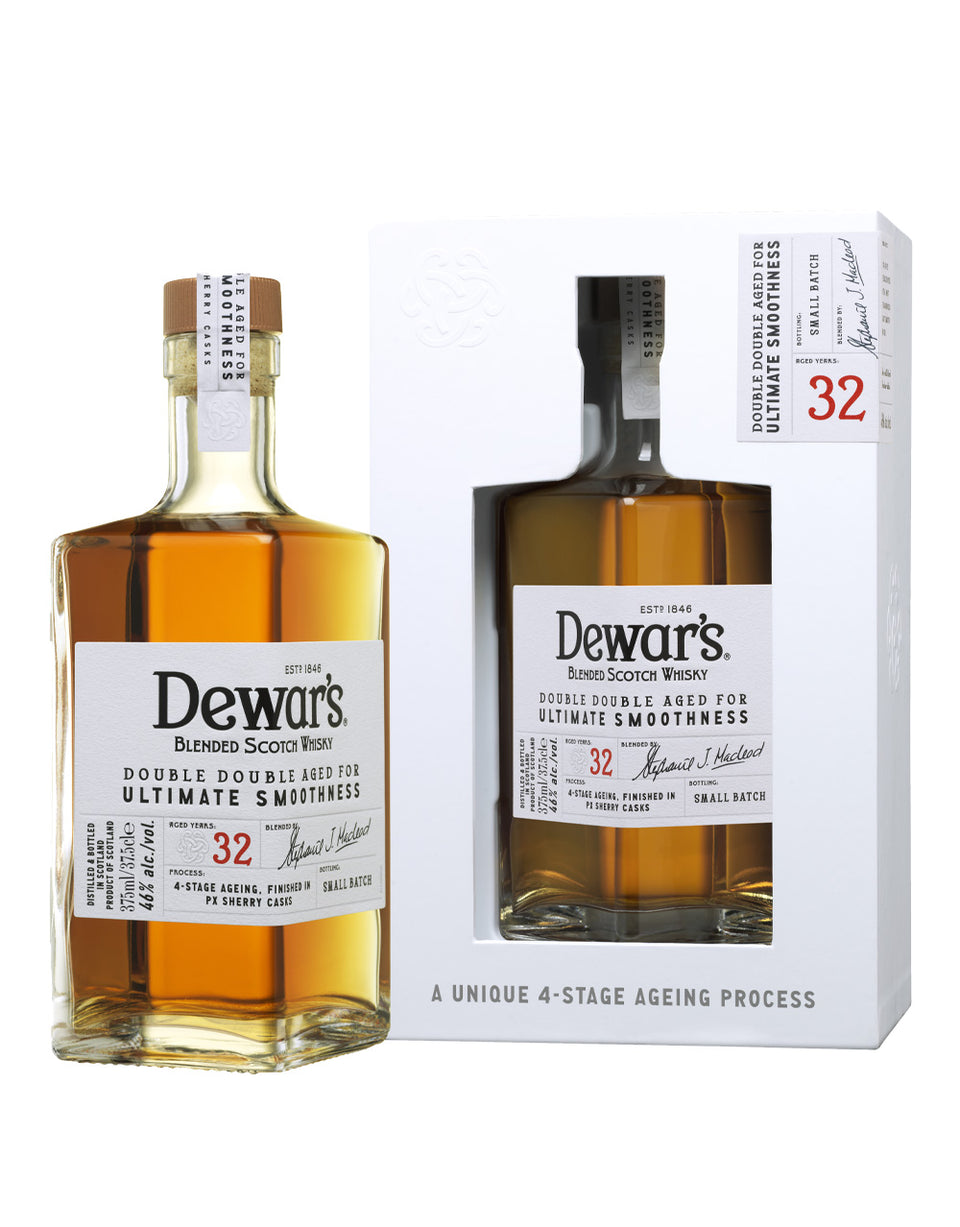 Load image into Gallery viewer, Dewar's Double Double 32 Year Old Blended Scotch Whisky bottle and box