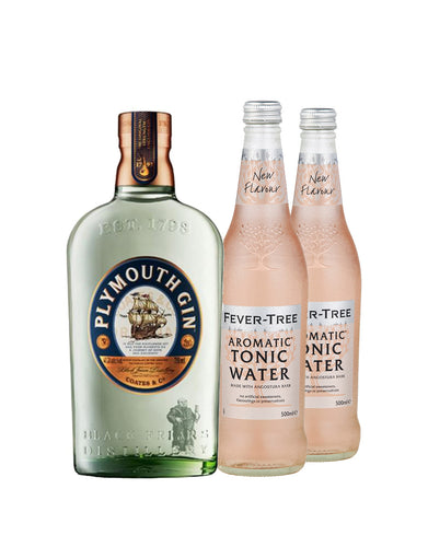 Plymouth Gin with Two Fever-Tree Aromatic Tonic Waters